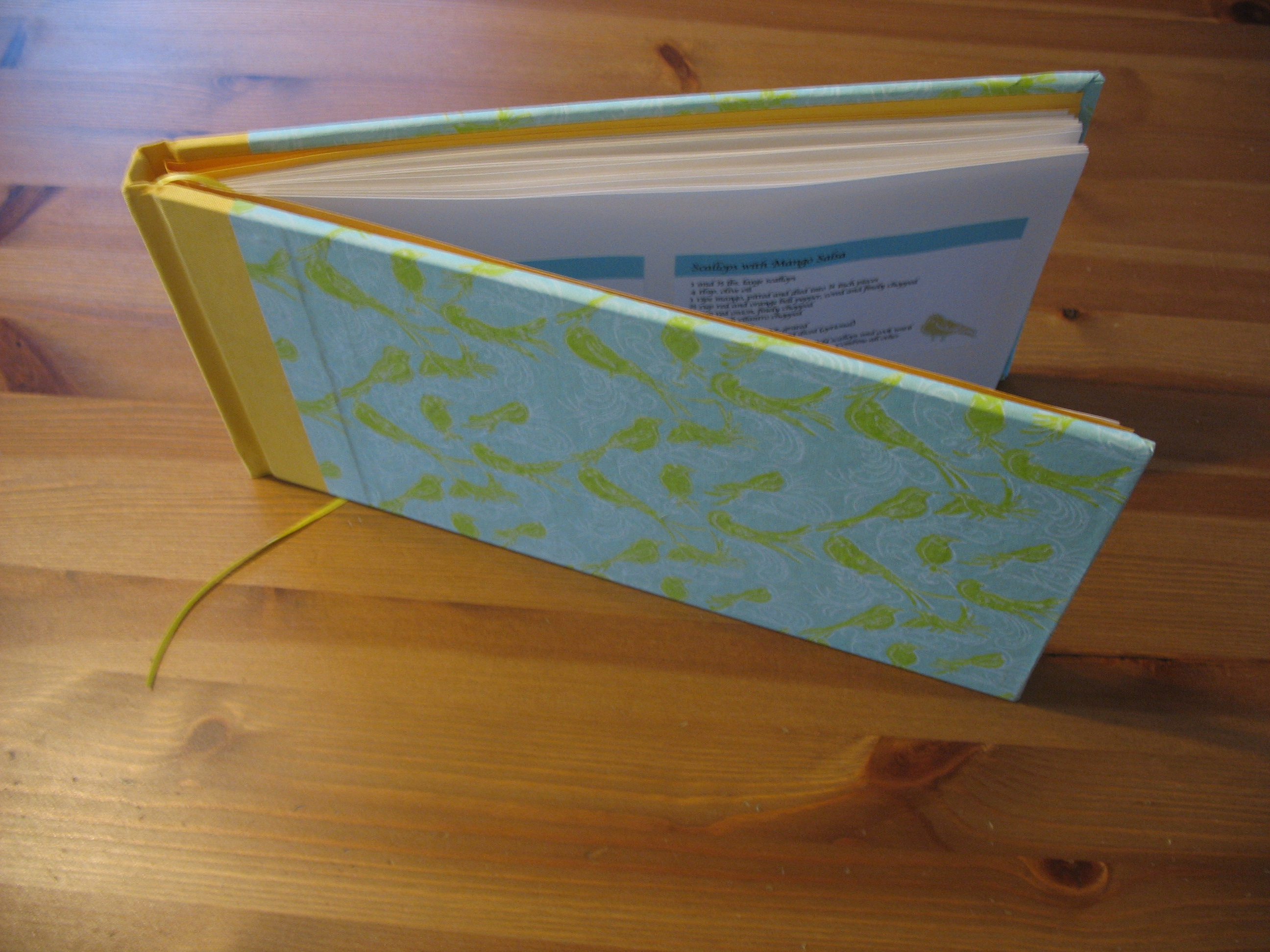 birdie bridal shower recipe book